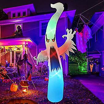 12 Ft Tall Halloween Inflatables Outdoor Horror White Ghost, Blow Up Yard Decoration Clearance With Led Lights Built-in For Holiday/party/yard/garden