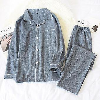 Autumn And Winter New Pair Of Pajamas Long Sleeves Pants 100% Cotton G