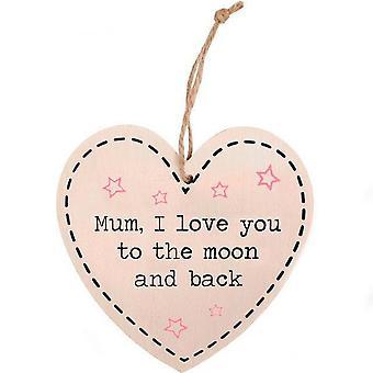 Jotain erilaista äiti rakkaus kuuhun ja takaisin, riippuva sydän merkki