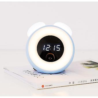 Alarm clocks little wark beauty children room led room induction small blue electronic wake up