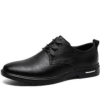 Mcikcara mænds derby sko læder 7066(Us8.5/eu42)(Sort)