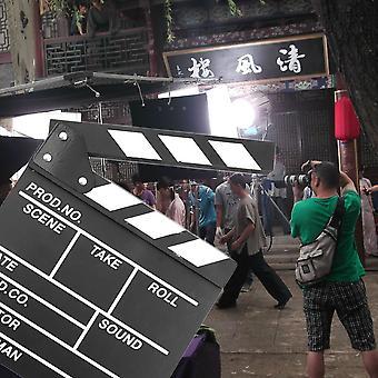 Director Escena Video Clapperboard Tv Movie Clapper Board Film Slate Cut Prop