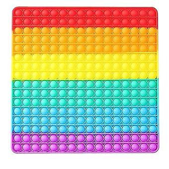 Jouet Rainbow Push Pop Fidget de grande taille, 30cm Push Bubble
