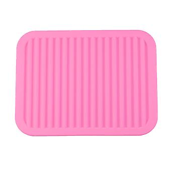 Ilovemilan Hot Tripod Pot Holder Többcélú száraz állvány konyhaasztal szőnyeg csúszásmentes rugalmas tartós, tartós, hőálló rózsaszín téglalap 23 * 30cm