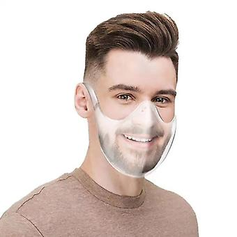Evago 2pcs Anti-fog Clarity Face Shield Protective Face Guard Plastic Reusable Clear Face Protection Anti-haze Windproof Transparent Mouth Protection