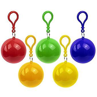 5pcs Jetable urgence portable imperméables balle, ponchos de pluie