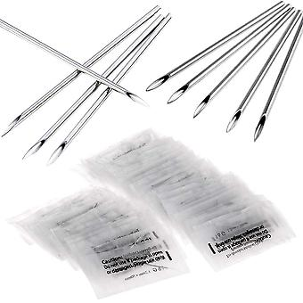 Ear Nose Piercing Needles Mixed Sizes Disposable Packaging Body Piercing Needles