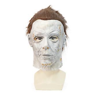 Halloween Majora Mask Mcnair Movie Latex Horror Headgear-knife Block Grey Face
