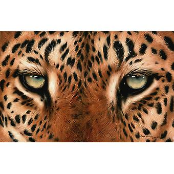 Leopard Eyes Painting Poster Print by Sarah Stribbling