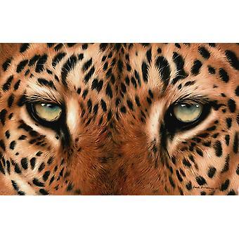 Leopard Augen Malerei Poster Print von Sarah Stribbling