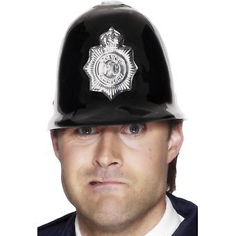 קסדת משטרה מפלסטיק עם תג