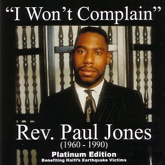 Paul Jones - I Won't Complain (Bonus DVD) [CD] USA import