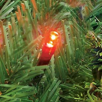 100 Christmas Lights Static LED Xmas Tree Red Colour Fairy Outdoor Indoor Mains