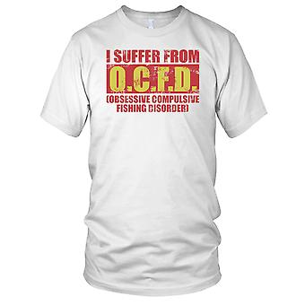 I Suffer From OCFD Fisherman Angler Ladies T Shirt
