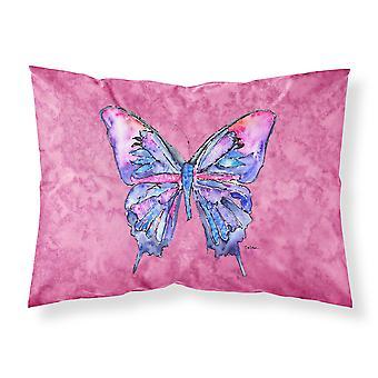 Schmetterling auf rosa feuchtigkeitsableitende Stoff standard Kissenbezug