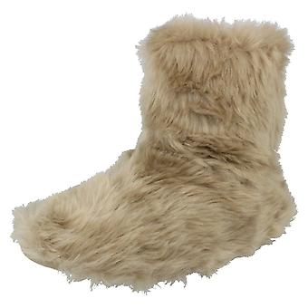 Ladies Eaze Boot Slippers - Mink Textile - UK Size 7/8 - EU Size 40/41 - US Size 9/10