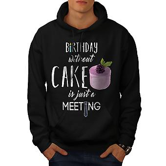 Party Cake Funny Men BlackHoodie | Wellcoda