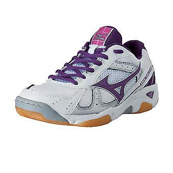 Twister MIZUNO Wave 2 chaussure Indoor [blanc/violet/rose]