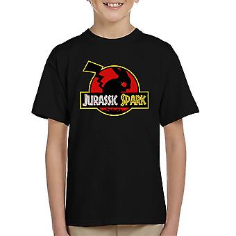 Jurassic Spark Pokemon Pikachu Park Kid's T-Shirt