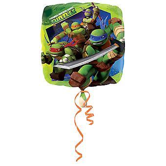 Amscan 18 Inch Teenage Mutant Ninja Turtles Square Foil Balloon