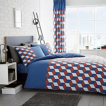 Cubix Geometric Duvet Cover Set