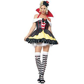Queen Of Hearts Alice In Wonderland Story Book Week Fairytale Women Costume