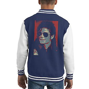 Michael Jackson Portrait 1990 Classic Aviator Sunglasses Kid's Varsity Jacket
