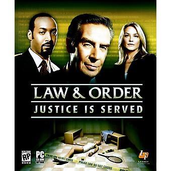 Law and Order - Justice is Served (PC) - New