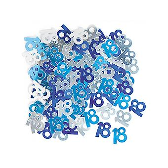Födelsedag glitter blå - 18 födelsedag konfetti