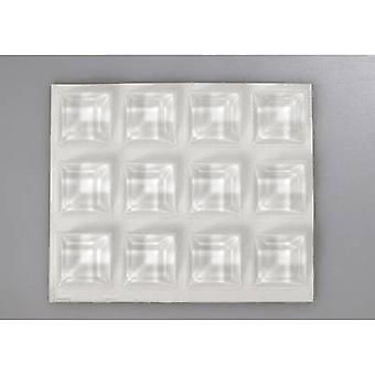 تولكرافت ج 2205 12-ج القدم ذاتية اللصق، ومربع شفاف (Ø س ح) 20.5 مم × 7.5 مم 12 pc(s)