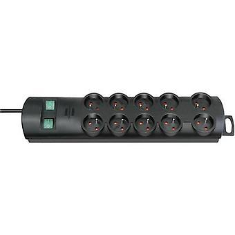 Brennenstuhl 1153304120 Tira de enchufe (+ interruptor) Conector 10x Negro FR 1 pc(s)