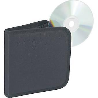 Bolsa de CD 12 CDs/DVDs/Blu-Ray Nylon negro 1 PC (L x W x H) 160 x 28 x 158 mm