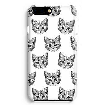iPhone 8 Plus pełna obudowa głowiczki (błyszcząca) - kotek