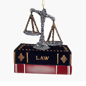 Kurt Adler advocaat advocaat Scales of Justice and Law boeken Ornament