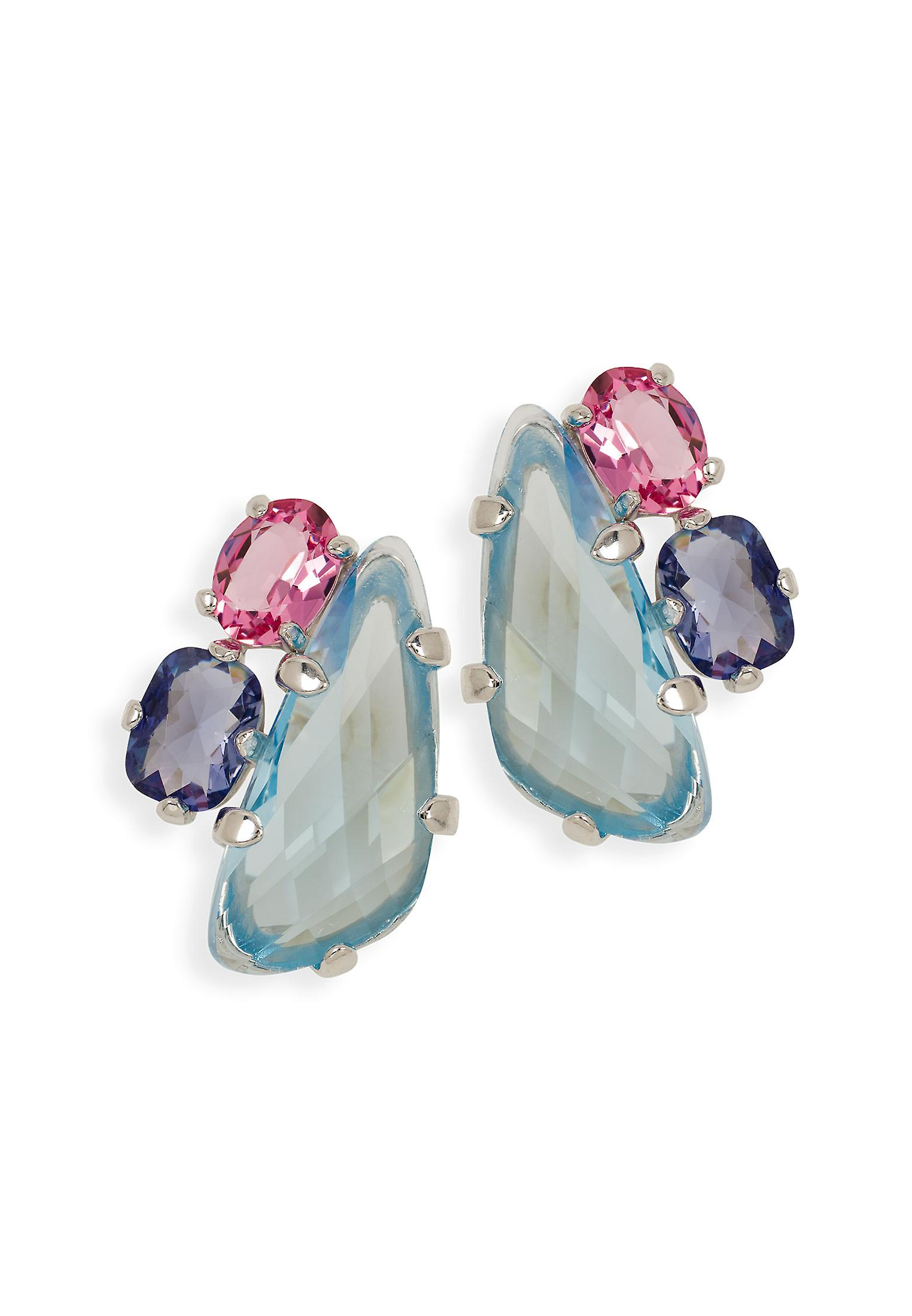 Multicolor earrings with crystals from Swarovski 504