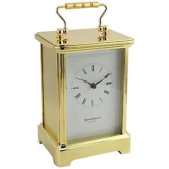 David Peterson Grande Obis Quartz Carriage Clock - Gold