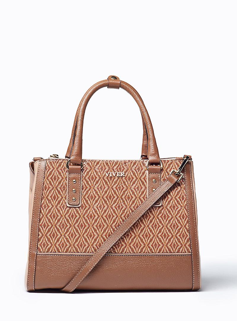 Viver Leather Handbag Olle Brown