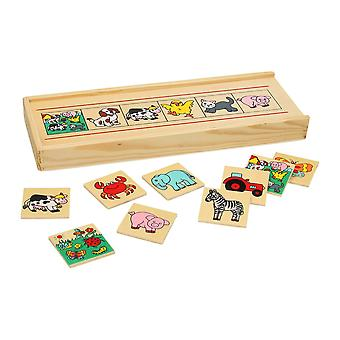 Bingo de photos en bois, 36 PCs.