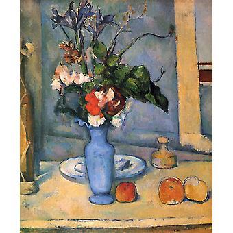 The Blue Vase,Paul Cezanne,61x50cm