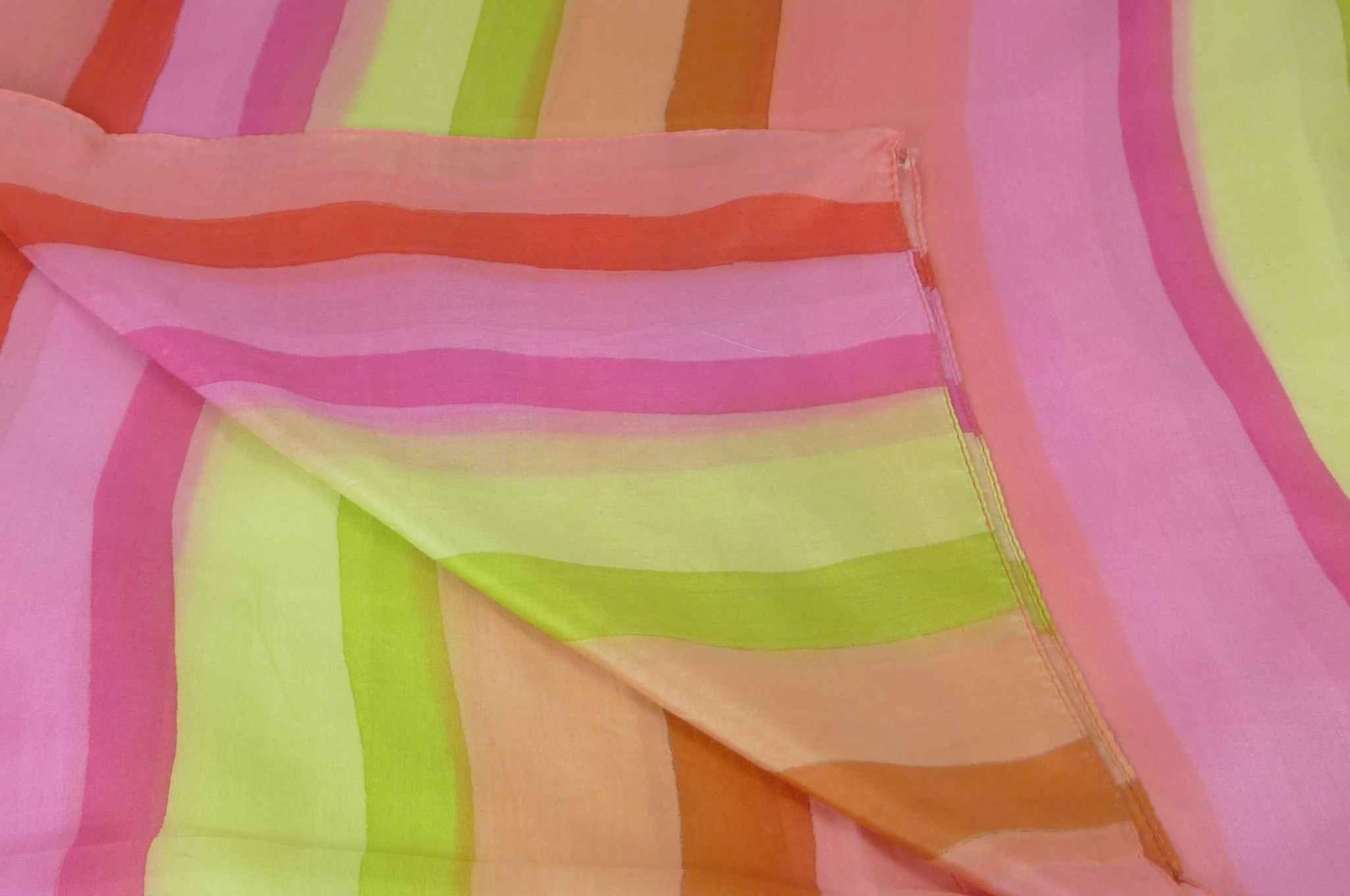 Mulberry Silk Classic Long Scarf Wassan Rainbow Palette by Pashmina & Silk