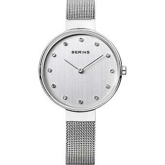 Bering Classic Silber Silber Mesh Armband Damenuhr 12034-000 34mm