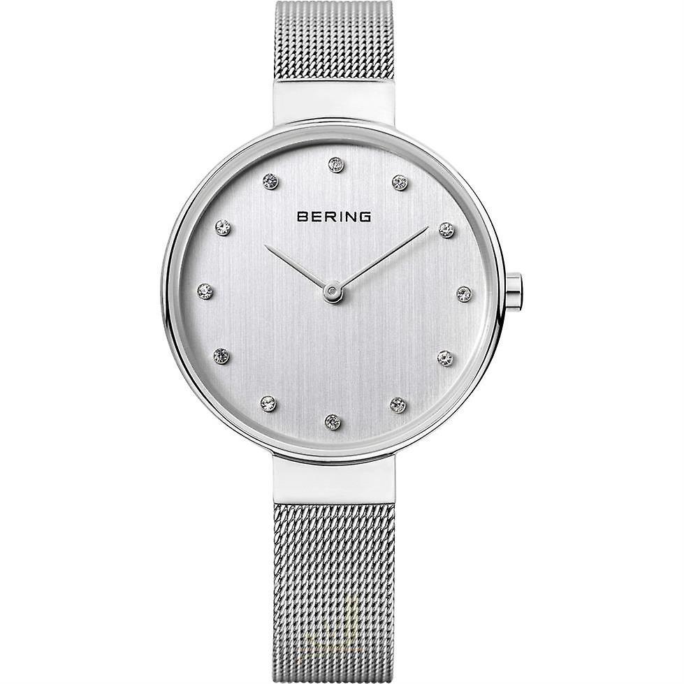 Bering Classic Silver Silver Mesh Bracelet Ladies Watch 12034-000 34mm