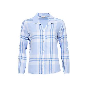 Cyberjammies 4058 vrouw Amelia blauw geruite pyjama's Top