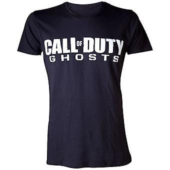 CALL OF DUTY Ghosts Mens Logo Extra Large T-Shirt, Black (TS18M9CDH-XL)