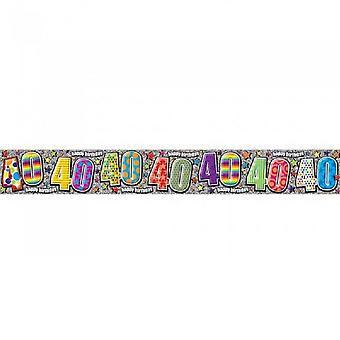Simon Elvin 40th Birthday Foil Banner (Pack of 6)