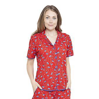 Cyberjammies 4128 naisten Mia punainen kukka tulostaa Pyjama toppi
