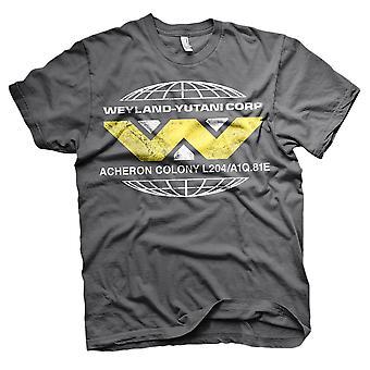 Aliens homens Wayland Yutani Corp retro T-shirt