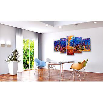Schilderij - Blue Valley100x50