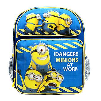 Medium Backpack - Despicable Me - Danger Minions at Work Blue 14