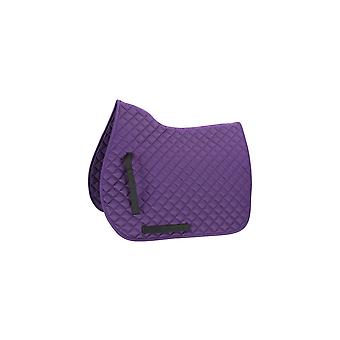 Shires Quilted General Purpose Saddlecloth - Pourpre